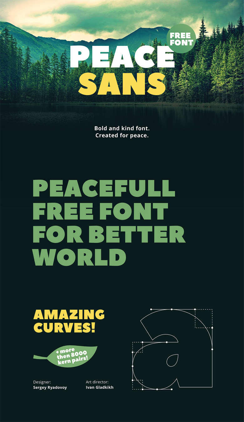 Beautiful free fonts for designers - Peace Sans