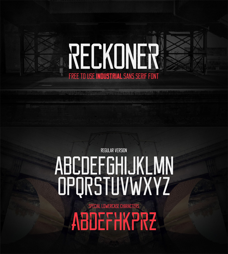 Beautiful free fonts for designers - Reckoner