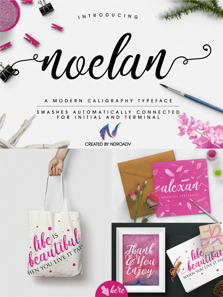 Beautiful free fonts for designers - Noelan