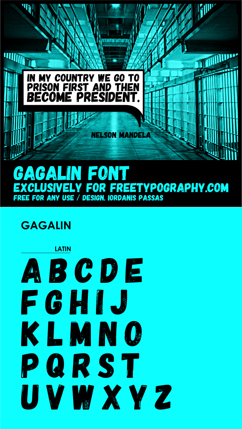 Beautiful free fonts for designers - Gagalin