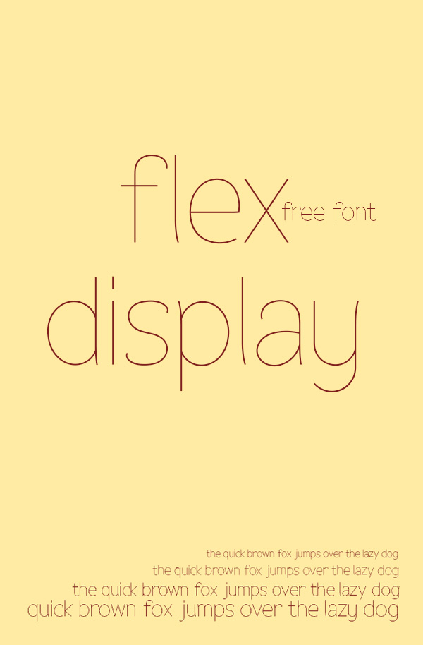 Beautiful free fonts for designers - Flex Display