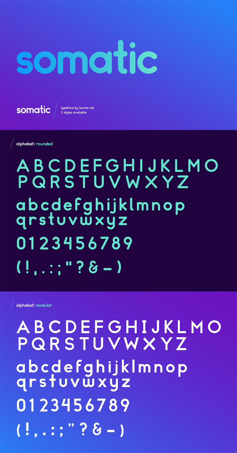 Beautiful free fonts for designers - Somatic
