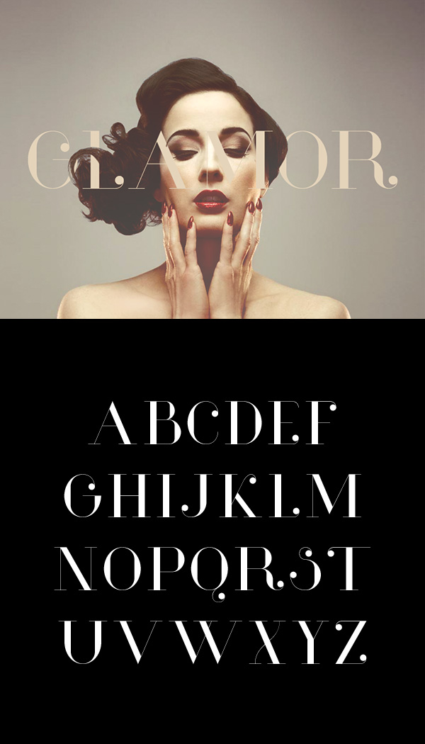 Beautiful free fonts for designers - Glamor