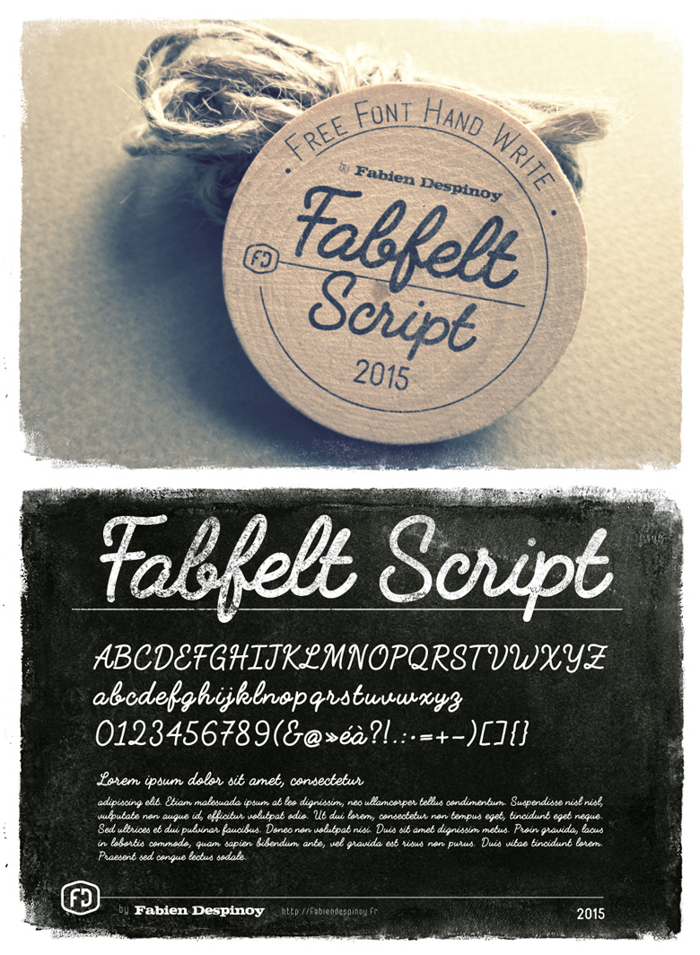 Beautiful free fonts for designers - Fabfelt Script