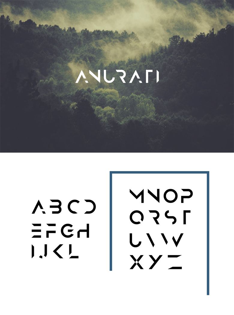 Beautiful free fonts for designers - Anurati