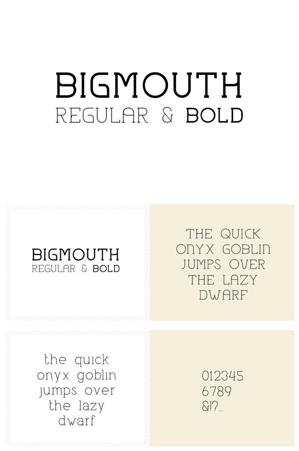 Beautiful free fonts for designers - Bigmouth