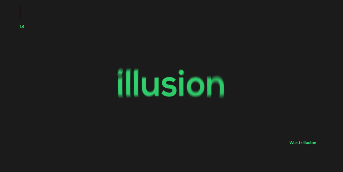 Creative typographic logos that visualize the meanings of words - Illusion