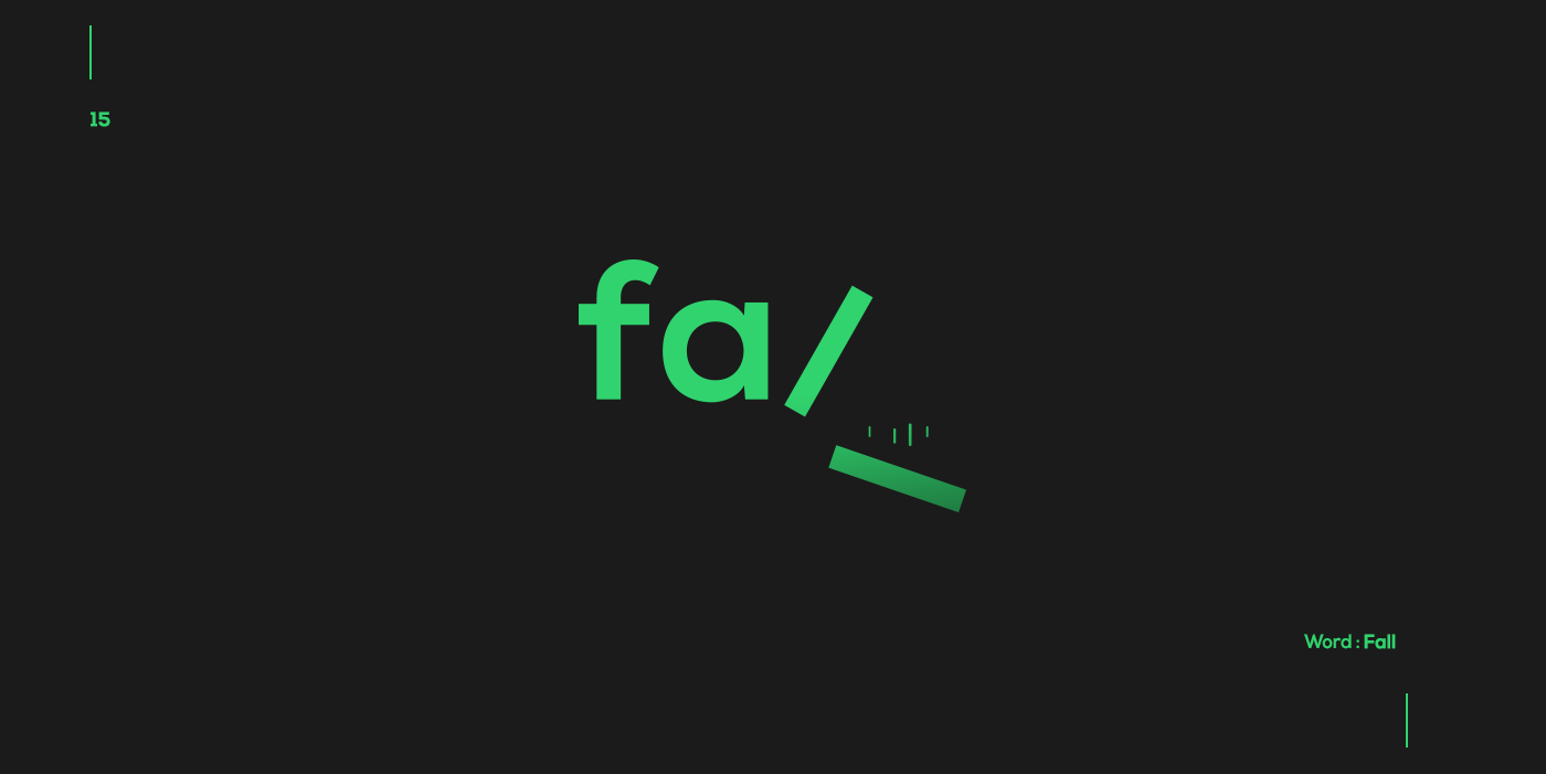 Creative typographic logos that visualize the meanings of words - Fall