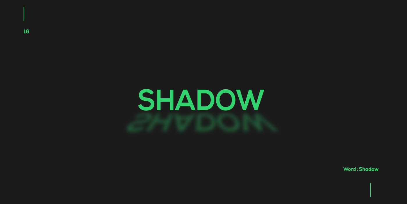 Creative typographic logos that visualize the meanings of words - Shadow