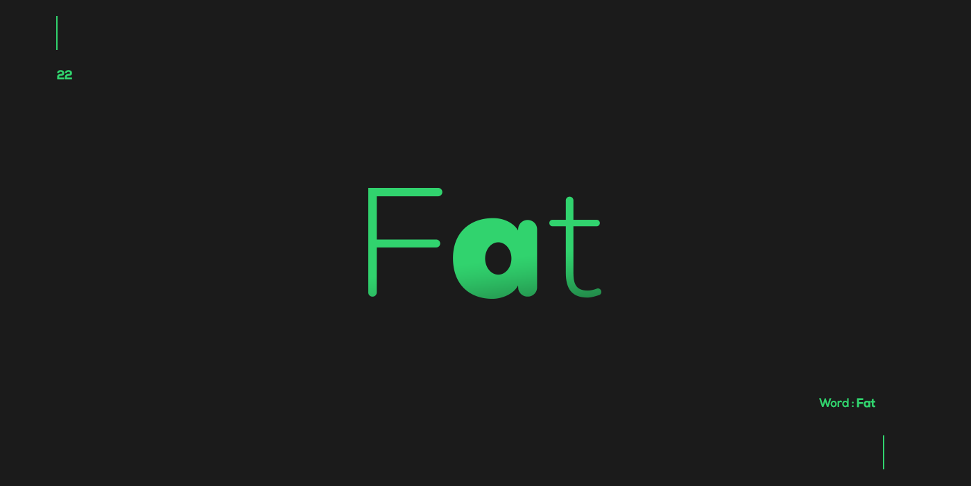 Creative typographic logos that visualize the meanings of words - Fat