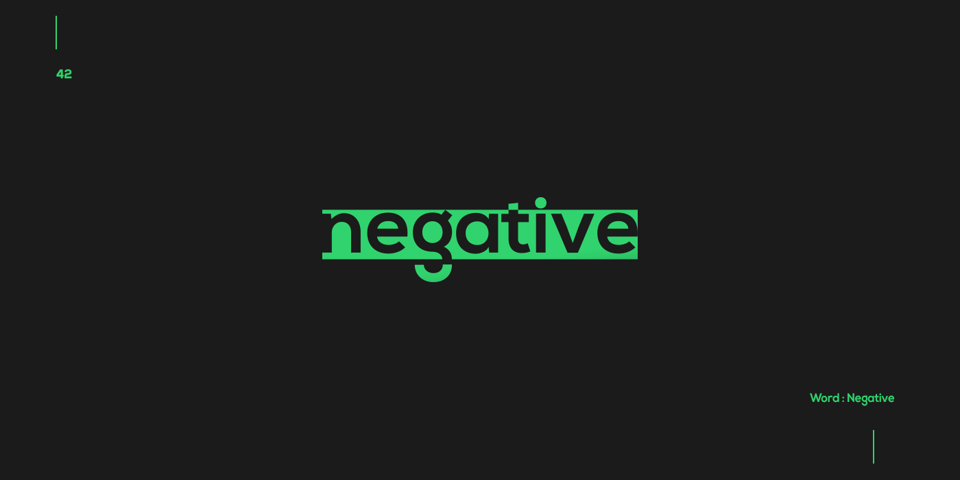 Creative typographic logos that visualize the meanings of words - Negative