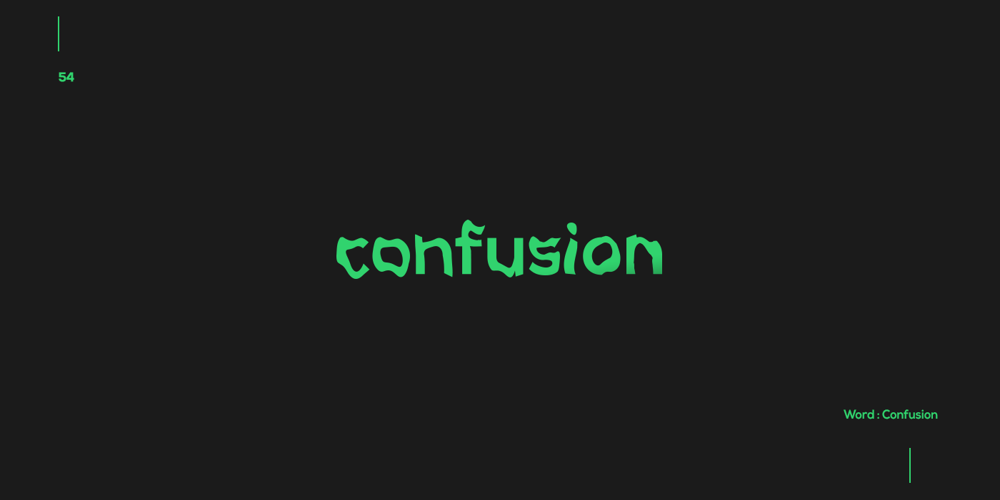 Creative typographic logos that visualize the meanings of words - Confusion