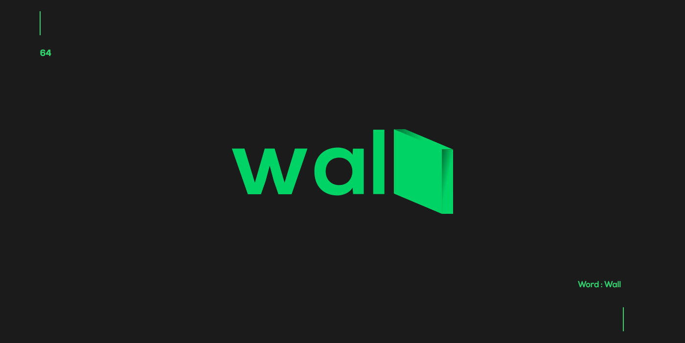 Creative typographic logos that visualize the meanings of words - Wall