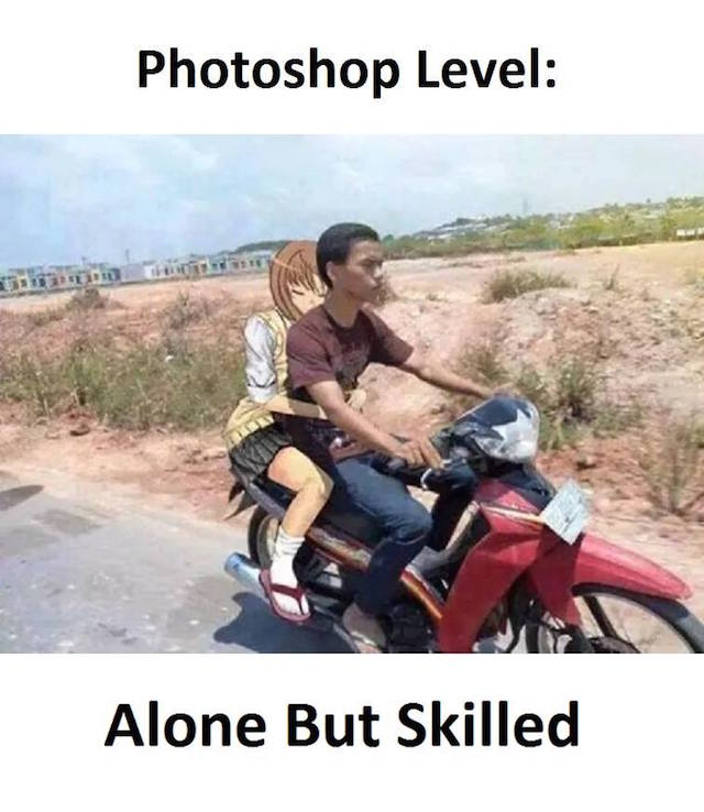 Photoshop level: Alone but skilled