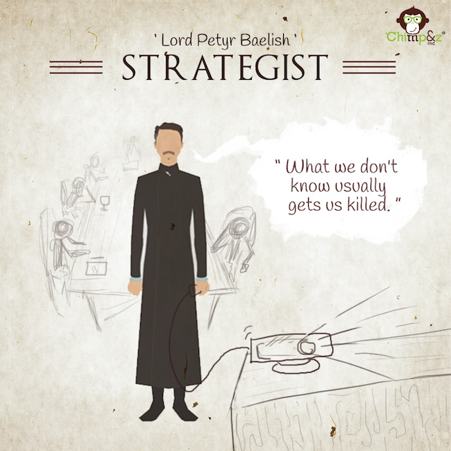 Game of Thrones characters in an advertising agency - Strategist - Lord Petyr Baelish