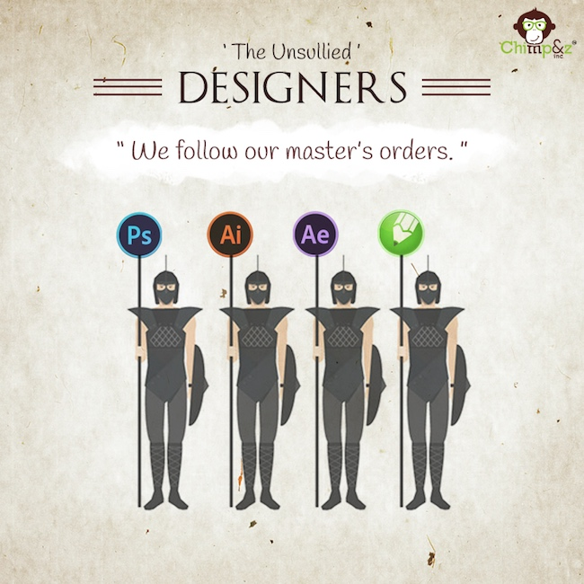 Game of Thrones characters in an advertising agency - Designers - The Unsullied