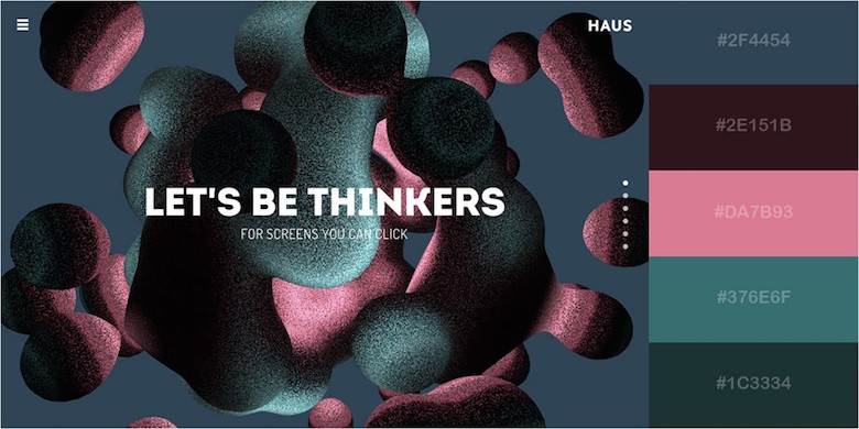 Website color schemes, palettes, combinations - Texturized and Dynamic