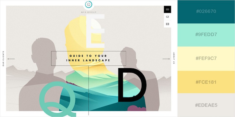 Website color schemes, palettes, combinations - Lively Yet Soothing