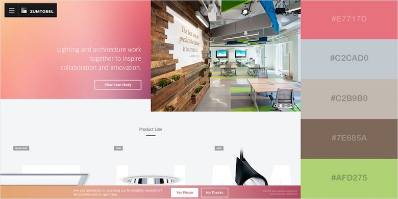 Website color schemes, palettes, combinations - Lively and Inviting