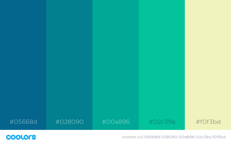 Beautiful color schemes, combinations and palettes - 14