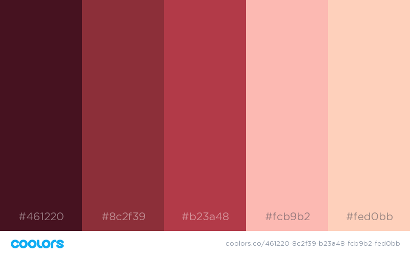 34 beautiful color palettes for your next design project - Brown and maroon color scheme ...