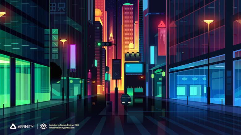 Colorful architecture skyline and cityscape illustrations - Affinity Designer 1 (1)