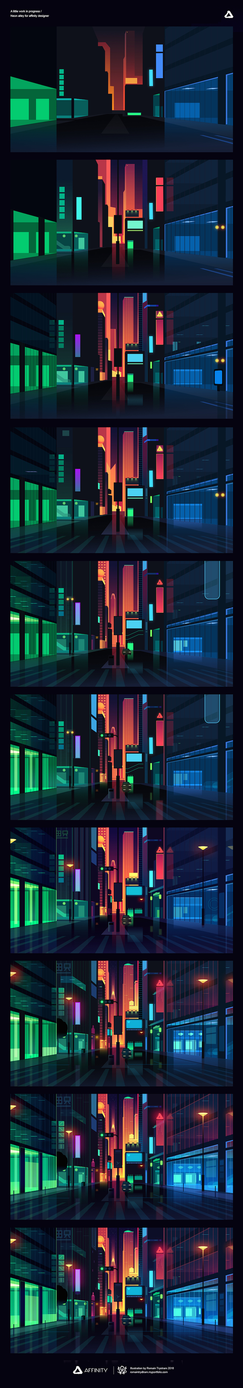 Colorful architecture skyline and cityscape illustrations - Affinity Designer 1 (3)