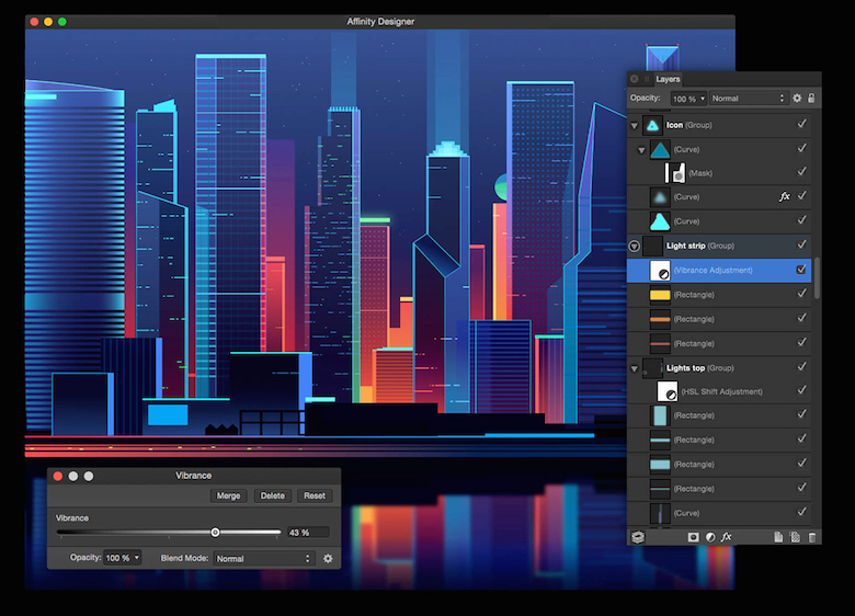 Colorful architecture skyline and cityscape illustrations - Affinity Designer 2 (2)