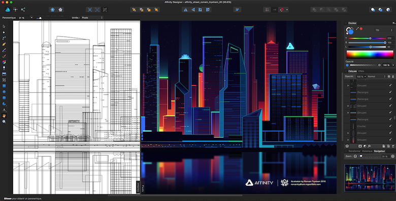 Beautiful  Vibrant Illustrations Of City Skylines Made With Photoshop And Affinity Designer