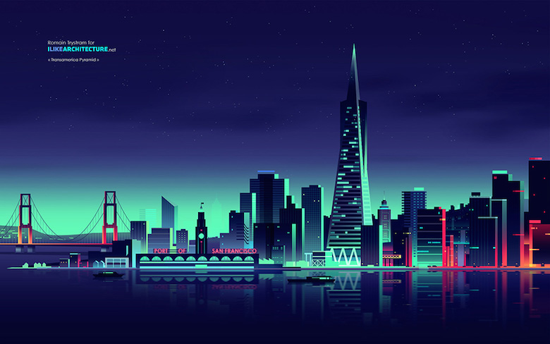 Colorful architecture skyline and cityscape illustrations - ILikeArchitecture.net 1