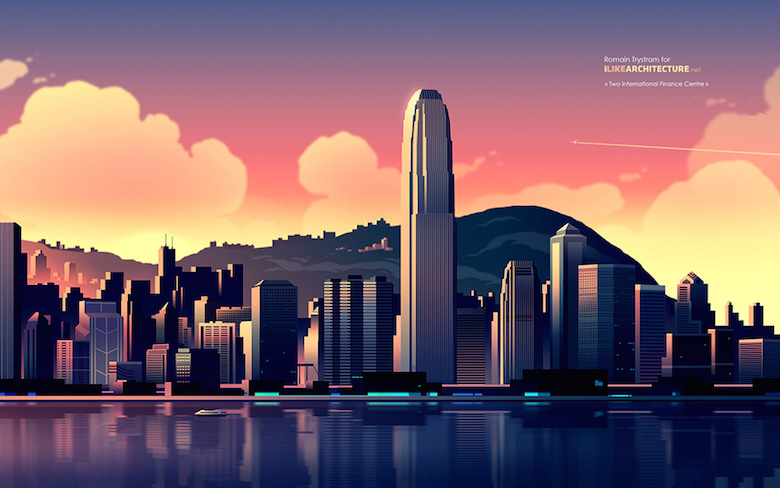 Colorful architecture skyline and cityscape illustrations - ILikeArchitecture.net 2