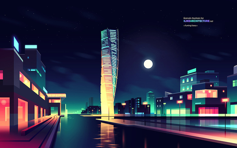 Colorful architecture skyline and cityscape illustrations - ILikeArchitecture.net 4