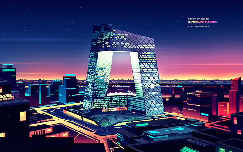 Colorful architecture skyline and cityscape illustrations - ILikeArchitecture.net 5