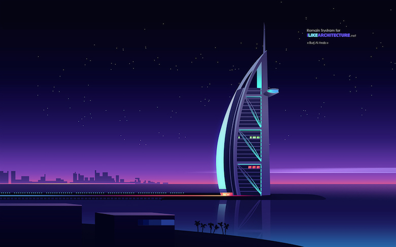 Colorful architecture skyline and cityscape illustrations - ILikeArchitecture.net 6