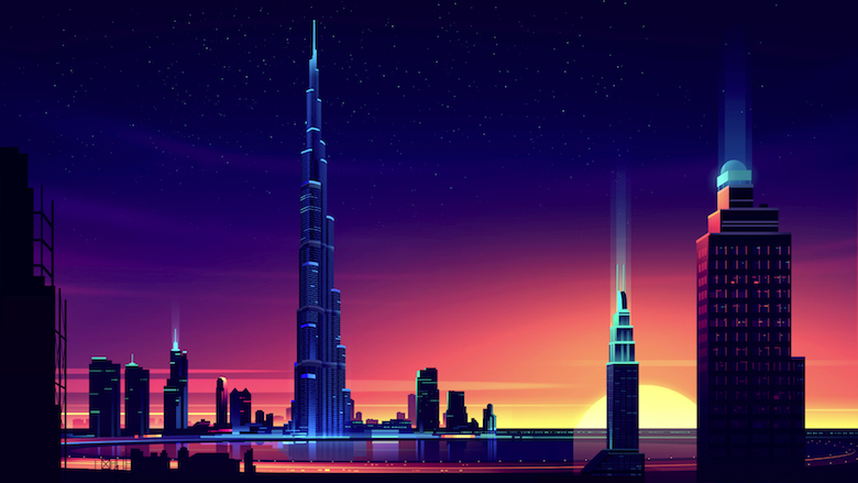 Colorful architecture skyline and cityscape illustrations - ILikeArchitecture.net 9
