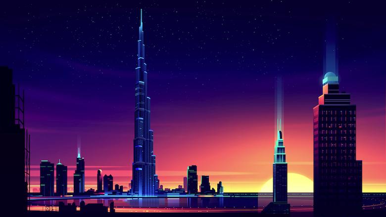 Colorful architecture skyline and cityscape illustrations - ILikeArchitecture.net 9