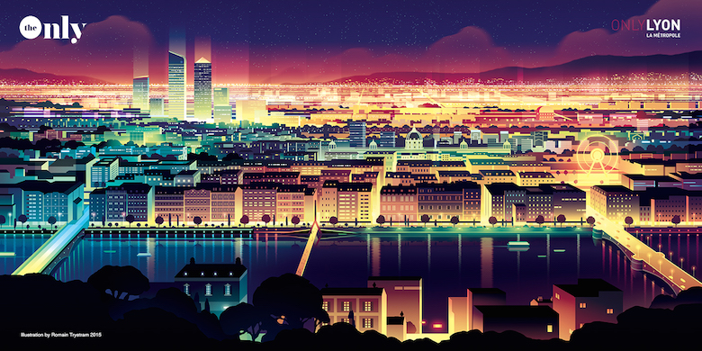 Beautiful Vibrant Illustrations Of City Skylines Made