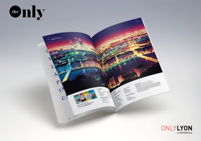 Colorful architecture skyline and cityscape illustrations - Editorial 2