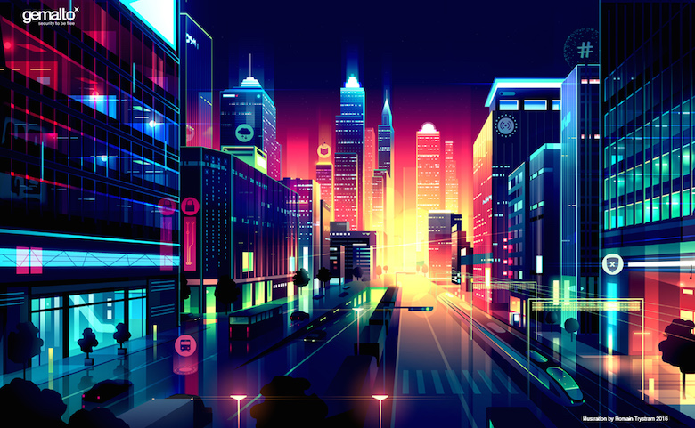 Colorful architecture skyline and cityscape illustrations - Editorial 3
