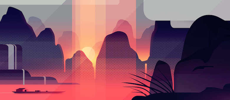 Colorful architecture skyline and cityscape illustrations - Expeditions 5