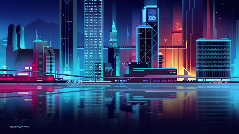 Colorful architecture skyline and cityscape illustrations - Headroom VR 1