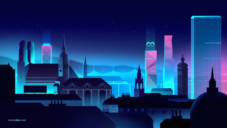 Colorful architecture skyline and cityscape illustrations - Headroom VR 2