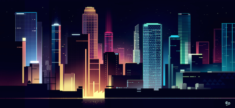Colorful architecture skyline and cityscape illustrations - Skylines 2