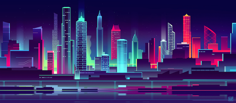 Colorful architecture skyline and cityscape illustrations - Skylines 3