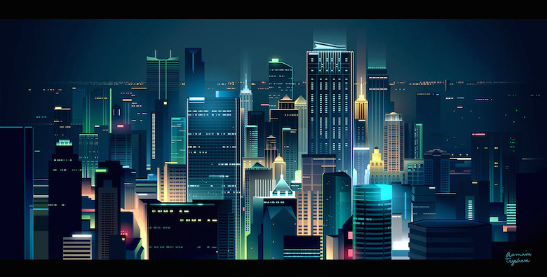 Colorful architecture skyline and cityscape illustrations - Skylines 5