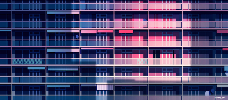 Colorful architecture skyline and cityscape illustrations - Various 15