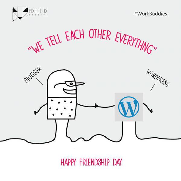 Friendship Day: Work buddies software posters - Blogger