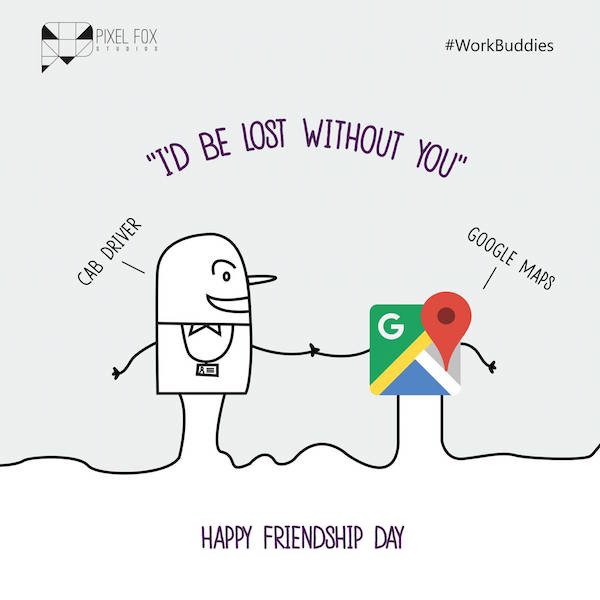 Friendship Day: Work buddies software posters - Cab Driver