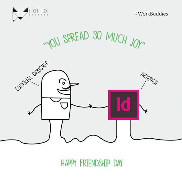 Friendship Day: Work buddies software posters - Editorial Designer