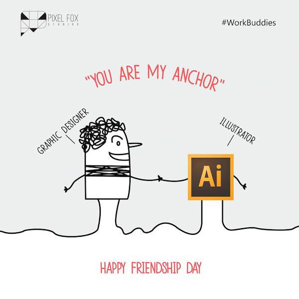 Friendship Day: Work buddies software posters - Graphic Designer